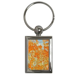 Yellow Rusty Metal Key Chains (rectangle)  by trendistuff