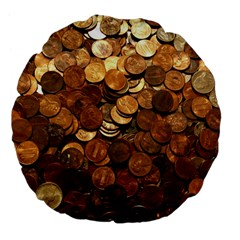 US COINS Large 18  Premium Flano Round Cushions by trendistuff