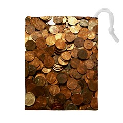 Us Coins Drawstring Pouches (extra Large)