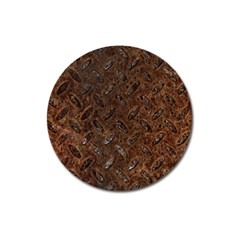 Rusty Metal Pattern Magnet 3  (round) by trendistuff