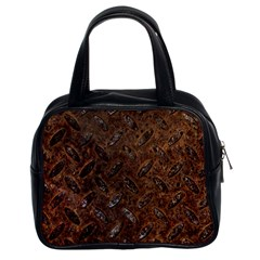 Rusty Metal Pattern Classic Handbags (2 Sides) by trendistuff