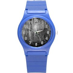 Grunge Metal Night Round Plastic Sport Watch (s) by trendistuff