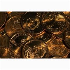 Gold Coins 2 Collage 12  X 18  by trendistuff