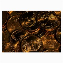 Gold Coins 2 Large Glasses Cloth by trendistuff