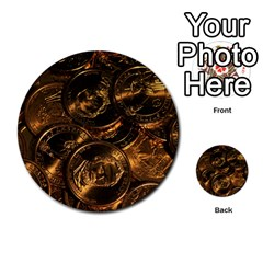 Gold Coins 2 Multi Purpose Cards (round)