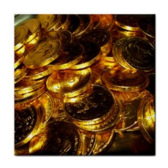 GOLD COINS 1 Tile Coasters by trendistuff