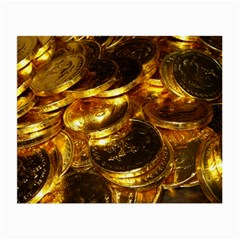 Gold Coins 1 Small Glasses Cloth by trendistuff