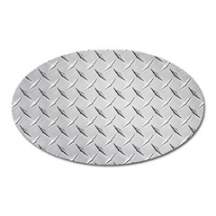 Diamond Plate Oval Magnet by trendistuff