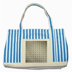 DIAMOND PLATE Striped Blue Tote Bag  by trendistuff