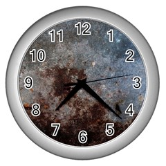 Corrosion 1 Wall Clocks (silver)  by trendistuff