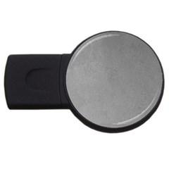 Grey Suede Usb Flash Drive Round (4 Gb)  by trendistuff