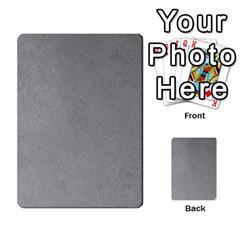 Grey Suede Multi Purpose Cards (rectangle)