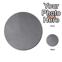 Grey Suede Multi Purpose Cards (round)