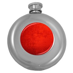 Crushed Red Velvet Round Hip Flask (5 Oz) by trendistuff