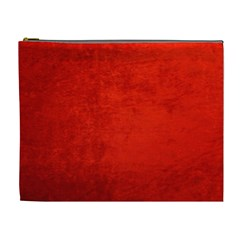 Crushed Red Velvet Cosmetic Bag (xl) by trendistuff