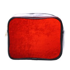 Crushed Red Velvet Mini Toiletries Bags by trendistuff