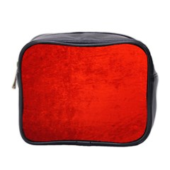 Crushed Red Velvet Mini Toiletries Bag 2 Side by trendistuff