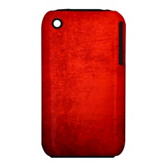 Crushed Red Velvet Apple Iphone 3g/3gs Hardshell Case (pc+silicone) by trendistuff