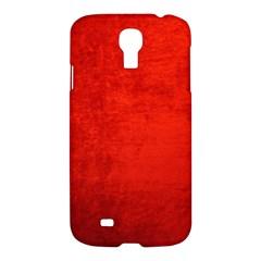 Crushed Red Velvet Samsung Galaxy S4 I9500/i9505 Hardshell Case by trendistuff