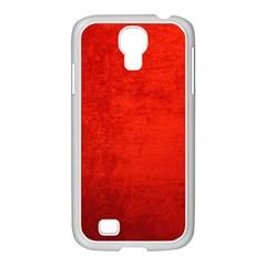 Crushed Red Velvet Samsung Galaxy S4 I9500/ I9505 Case (white) by trendistuff