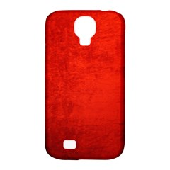 Crushed Red Velvet Samsung Galaxy S4 Classic Hardshell Case (pc+silicone) by trendistuff