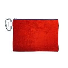 Crushed Red Velvet Canvas Cosmetic Bag (m) by trendistuff
