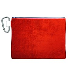 Crushed Red Velvet Canvas Cosmetic Bag (xl)  by trendistuff