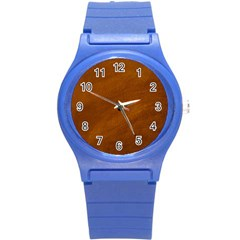 Brushed Suede Texture Round Plastic Sport Watch (s) by trendistuff