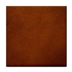 Brown Leather Tile Coasters by trendistuff