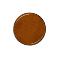 BROWN LEATHER Hat Clip Ball Marker (4 pack) by trendistuff