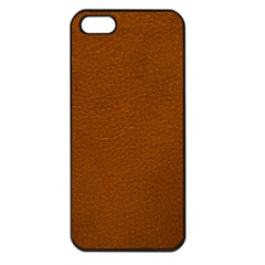 BROWN LEATHER Apple iPhone 5 Seamless Case (Black) by trendistuff