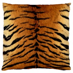 Tiger Fur Large Cushion Cases (two Sides)  by trendistuff