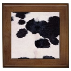 Spotted Cow Hide Framed Tiles by trendistuff