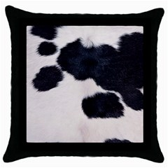 Spotted Cow Hide Throw Pillow Cases (black) by trendistuff
