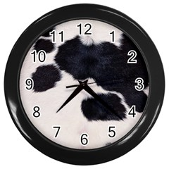Spotted Cow Hide Wall Clocks (black) by trendistuff