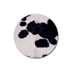 SPOTTED COW HIDE Rubber Coaster (Round)  by trendistuff