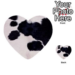 Spotted Cow Hide Multi Purpose Cards (heart)  by trendistuff