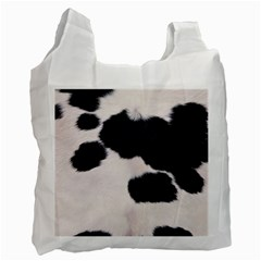 SPOTTED COW HIDE Recycle Bag (Two Side)  by trendistuff