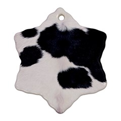 Spotted Cow Hide Snowflake Ornament (2 Side) by trendistuff