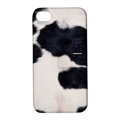 Spotted Cow Hide Apple Iphone 4/4s Hardshell Case With Stand by trendistuff