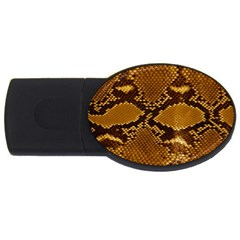 Snake Skin Usb Flash Drive Oval (2 Gb)  by trendistuff