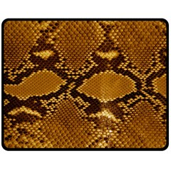 Snake Skin Double Sided Fleece Blanket (medium)  by trendistuff