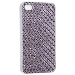 Silver Snake Skin Apple Iphone 4/4s Seamless Case (white) by trendistuff