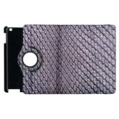 Silver Snake Skin Apple Ipad 3/4 Flip 360 Case by trendistuff