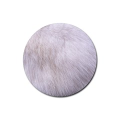 RABBIT FUR Rubber Coaster (Round)  by trendistuff