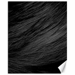 Long Haired Black Cat Fur Canvas 16  X 20   by trendistuff