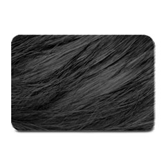 Long Haired Black Cat Fur Plate Mats by trendistuff