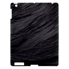 Long Haired Black Cat Fur Apple Ipad 3/4 Hardshell Case by trendistuff