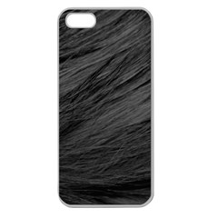 Long Haired Black Cat Fur Apple Seamless Iphone 5 Case (clear) by trendistuff