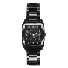 Long Haired Black Cat Fur Stainless Steel Barrel Watch by trendistuff